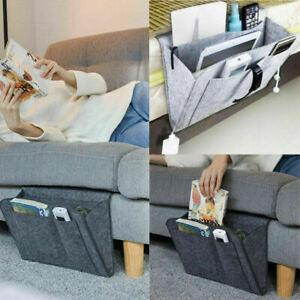 Hanging Felt Bedside Storage Bed Desk Bag Pocket Bedside Caddy Sofa Organizer