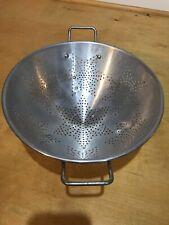 """Vintage Aluminum 7 Star Kitchen Footed Colander Strainer 11"""" Top Diameter"""