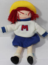 Vintage 1995 EDEN MADELINE DOLL IN CHEERLEADER OUTFIT Stuffed Plush SOFT TOY