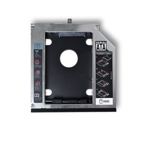 "2nd HDD Caddy 9.5mm 12.7mm 2.5"" SATA Hard Drive Adapter For Laptop  CD/DVD-ROM"