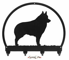 Swen Products Schipperke Dog Black Metal Key Chain 
