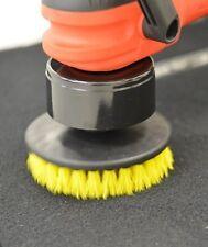 "Scrub Brush (5"") Medium Bristle Car Carpet Mat Upholstery Power Drill Attachment"