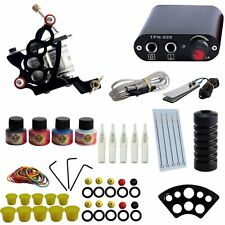 Complete Tattoo Kit 10 Coil Guns Set 4 Colors Ink - Proffessional Set