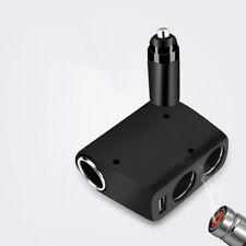 Single USB Car 3 Holes Cigarette Lighter Socket Adapter for Cellphone GPS Ipod