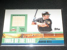 DAVID BELL GIANTS STAR LEGEND CERTIFIED GAME USED AUTHENTIC BAT CARD RARE