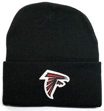 READ LISTING! Atlanta Falcons HEAT Applied Flat Logo on Beanie Knit Cap hat