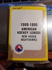 1989-90 Pro Cards 27-card AHL New Haven Nighthawks Hockey Team Set Sealed