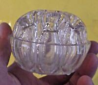Ancien Vase Pique Fleur en Verre Rond Art Déco 9 trous N°3 REIMS Glass Bowl