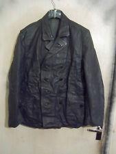 Vintage Post Segunda Guerra Mundial Alemán De Cuero Chaqueta de agentes de policía Talla L