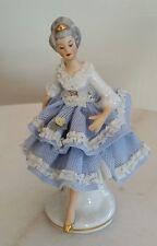Vintage Volkstedt Porcelain Dresden Dancing Ballerina Victorian Lady Figurine