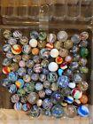 LARGE LOT OF German Marbles VINTAGE Handmade Akro Peppermint Popeyes