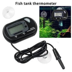 2x Digital Aquarium Thermometer LCD Fish Tank Marine Terrarium Reptile Frog