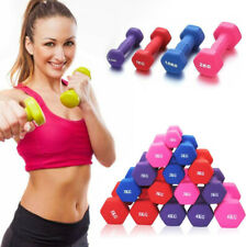 Neoprene Dumbbells Hexagonal Cast Iron Weights Ladies Home Gym Workout Aerobic