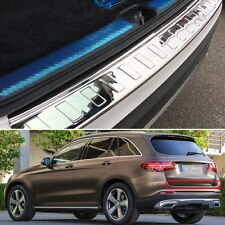Stainless steel Outer Rear Bumper Protector Cover for Mercedes Benz GLC 16-17