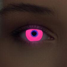 Leuchtende Schwarzlicht Kontaktlinsen farbige UV Neon Linsen weiß blau rot grün
