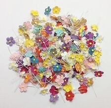 200 pcs Mixed Random Colors3 Mini Flowers Paper Card Making Scrapbooking Crafts
