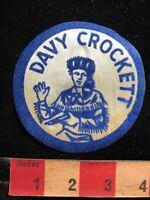Thin As-Is Blue 1950s DAVY CROCKETT Patch Emblem Killed Battle Of Alamo TX 61P6