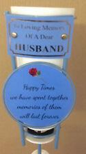 In Loving Memory Of A Dear Husband Grave Spike Flower Vase Memorial Tribute BHT