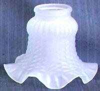 Vetro di ricambio paralume per applique abat-jour e lampadari in ottone BIANCO