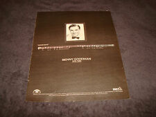 BENNY GOODMAN 1909-1986 tribute ad with 'Good-Bye' and music notes on it