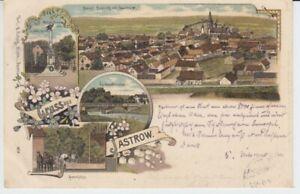 Ansichtskarte  Pommern  Gruss aus Jastrow  1899  Seemühle Küddowbrücke  etc.