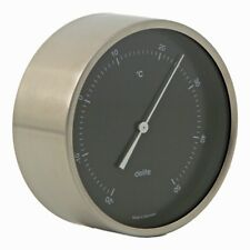 Delite Clausen Edelstahl Thermometer 605603 - Zifferblatt schwarz rund 100mm