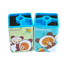 Rilakkuma Pen Cup Office Desk Pencil Holder Mesh Organizer Cute Container Box