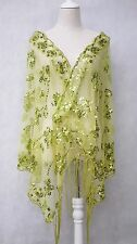 Large Women Lady Handmade Beaded Silk Party Evening Shawl Wrap Scarf Shining