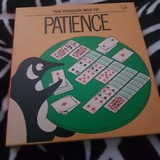 The Penguin Box of Patience VGC Condition Book and 2 full sets of playing cards