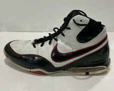 NIKE Sz 13 AIR MAX SPOT UP Sneakers 345000 BASKETBALL Mid-Top Black/white/red