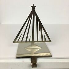 Eddie Bauer Brushed Stainless Steel TREE Christmas Stocking Holder Heavy Rare