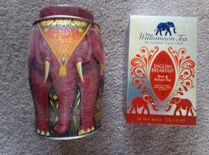 Williamson Elephant tea caddy. (Kenya Earth) with 50 English Breakfast Tea bags.