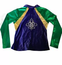 Dreamlight Activewear Rhinestone gymnastics jacket Green/Purple/Gold Adult S