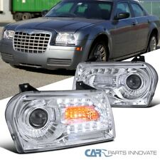 For 05-10 Chrysler 300 Clear Projector Headlights Head Lamps w/ LED +Turn Signal