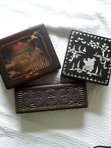 3 Vintage/antique Boxes