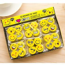 4PCS Funny Emoji Rubber Pencil Eraser Novelty Student Gift Cute Toy Fr Child th