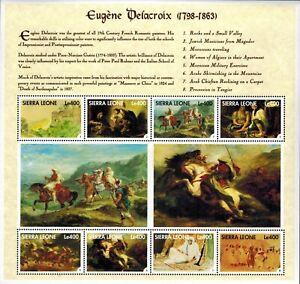 VINTAGE CLASSICS - Sierra Leone 2150 - Eugene Delacroix - Sheet of 8 - MNH