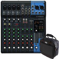 Yamaha MG10XU USB 10-Channel PA Studio Mixer + Gator Padded Equipment Carry Bag