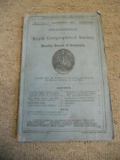 Proceedings of the Royal Geographical Society, Vol. IX., No. 12., December, 1887