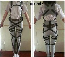 Attack On Titan Shingeki no Kyojin Cosplay Adjustable Harness Straps Belts