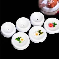 6 Pcs/Set Button Shapes Fondant Forming Cups Flower Drying Moulds Baking Tools