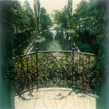 REBECCA HARDIN MORNING SHADOWS Hand Signed X-Large Art Serigraph IN THE GARDENS