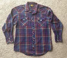 BAR M RANCHER Large Western Shirt - Madras Plaid Cowboy