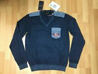 NWT MENS ARMANI JEANS SWEATSHIRT V-NECK COTTON Aegean Blue S-M-L-XL- XXL-RRP£139