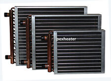 """Finned Coil Water to Air Heat Exchanger, 1"""" sweat connections, different sizes"""
