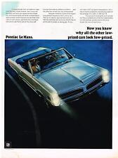 Vintage 1966 Magazine Ad Pontiac LeMans Why Other Low Priced Cars Look Low Price