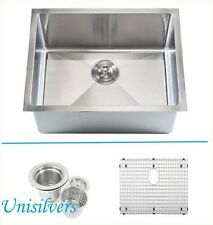 "26"" 15mm (1/2"") Radius Square Corner Stainless Steel Kitchen Sink"