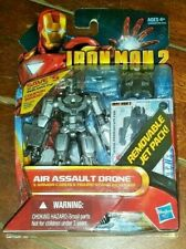 "Iron Man 2 Movie Series: AIR ASSAULT DRONE 4"" Action Figure w/Cards & Stand!"