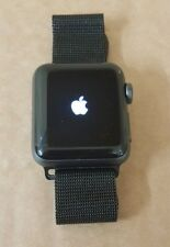 (Pa2) Apple Smart Watch Series 3 Space Grey Aluminium Milanese strap A1858 38mm