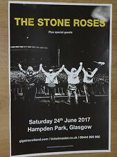 The Stone Roses live music Glasgow Hampden Park june 2017 concert gig poster